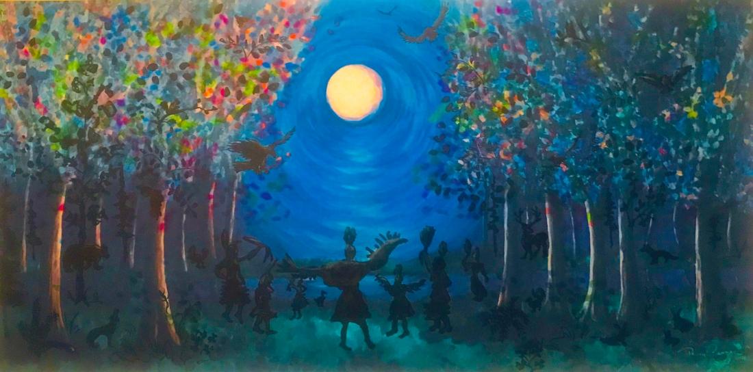 Kwek Society print Moon Magic by Penny Coates