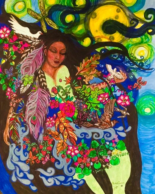 Kwek Society print Mother Moon by Penny Coates